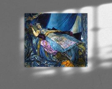 Georges Rochegrosse, DIE BLAUEN PRINSEN von Atelier Liesjes
