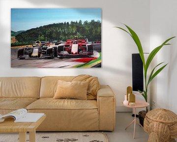 Verstappen Leclerc Autriche 2019 sur Paul Smit