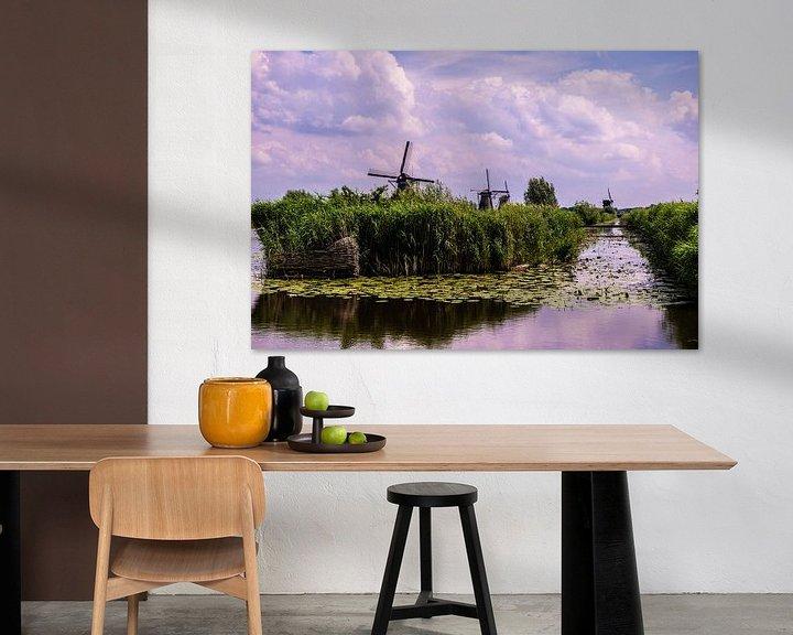 Sfeerimpressie: Windmolens op de Kinderdijk van Brian Morgan