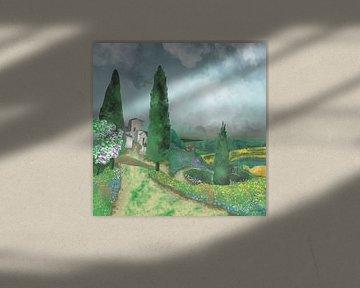 Landschaft - Die Felder von Toskana von Patricia Piotrak
