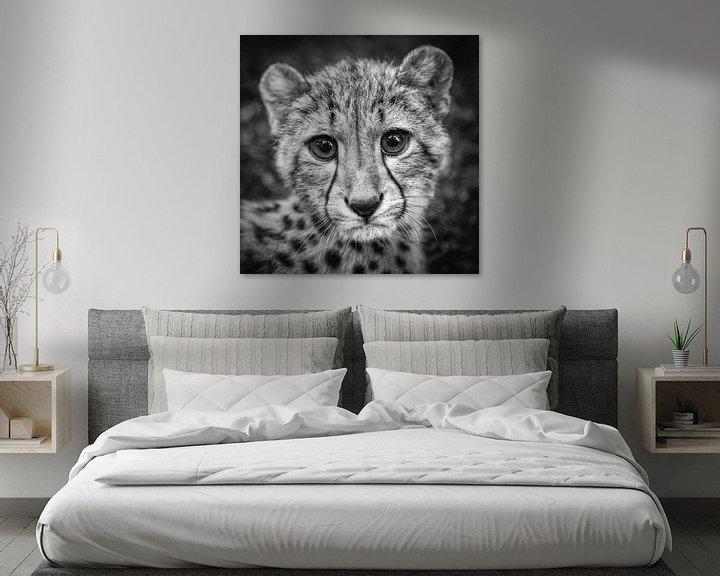 Impression: Portrait du jeune guépard sur Frans Lemmens