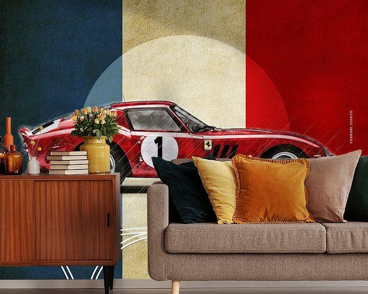 Beispiel fototapete: Ferrari 250GTO in Montlhery von Theodor Decker
