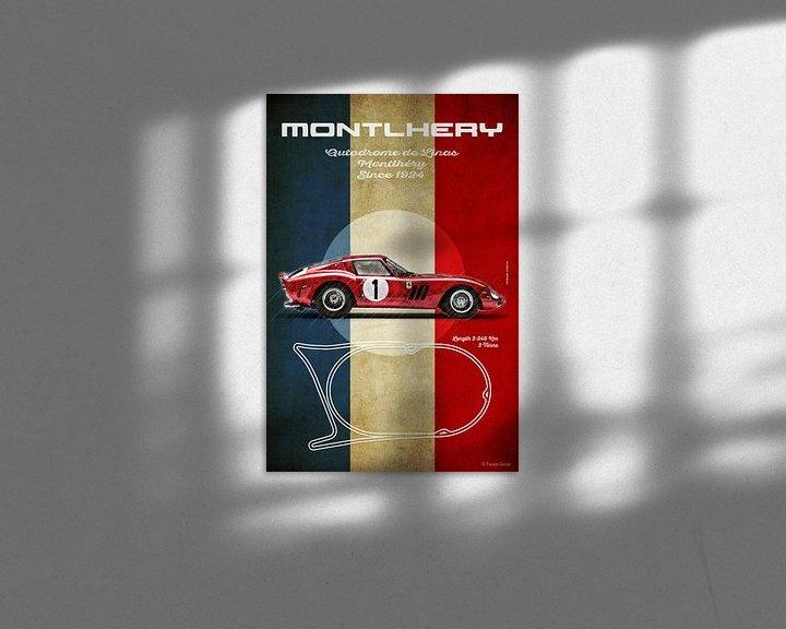 Beispiel: Ferrari 250GTO in Montlhery von Theodor Decker