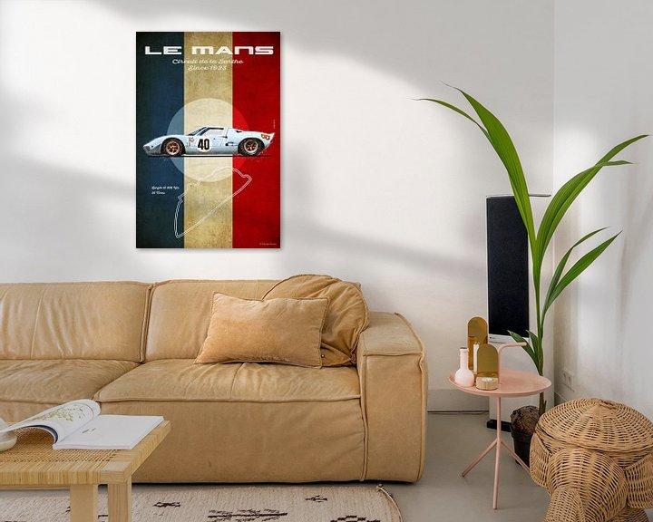 Beispiel: Ford GT40 Gulf in Le Mans von Theodor Decker