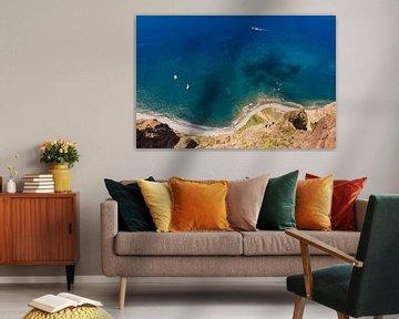 Zicht op Madeira vanuit het Cabo Girao-perspectief van Werner Dieterich