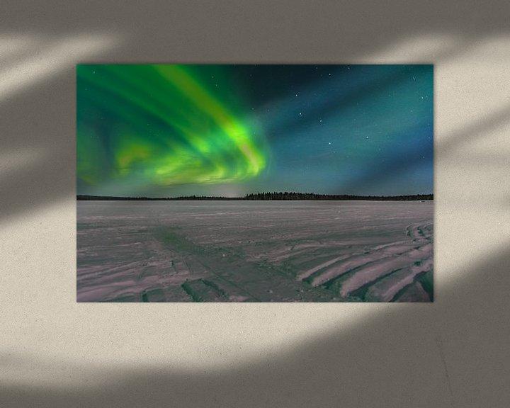 Sfeerimpressie: noorderlicht in fins lapland met oud en nieuw 2019/2020 van Kevin Pluk