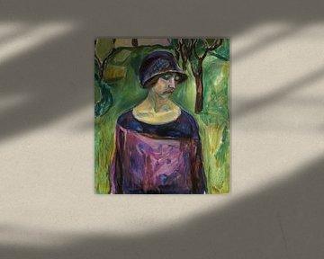 Birgit Prestøe im Garten, Edvard Munch
