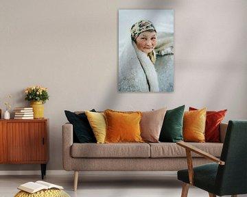Portret van vrouw in Siberië, Rusland   portret, fotografie, reisfotografie, portretfotografie van Milene van Arendonk