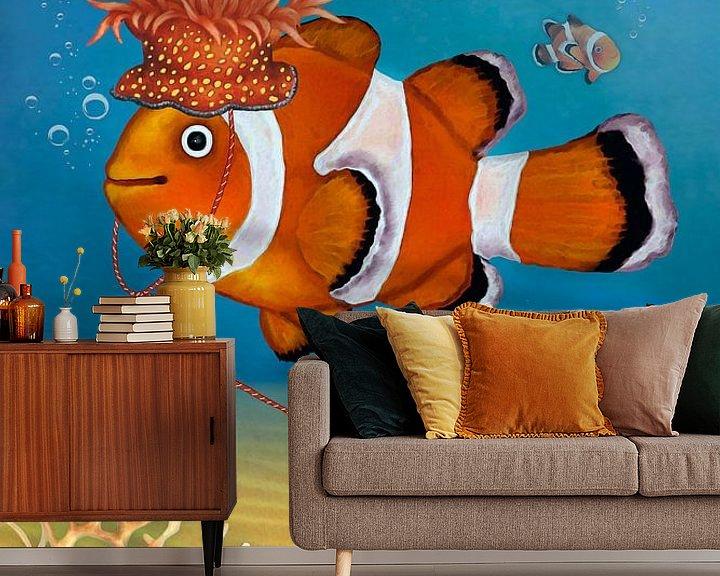 Beispiel fototapete: Mein lustiger Clownfisch Rio von Marion Krätschmer