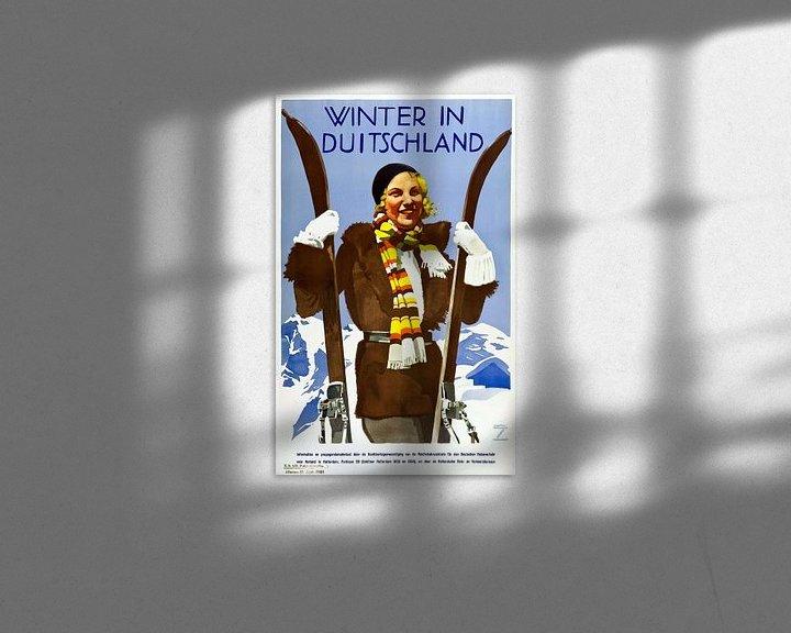 Beispiel: Poster Winter in Deutschland von Atelier Liesjes