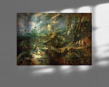 Landschaft mit Philemon und Baucis, Peter Paul Rubens - 1625 von Atelier Liesjes