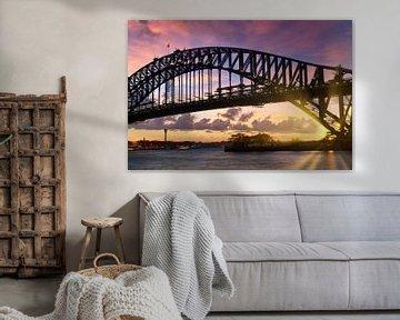 Sydney Harbor Bridge bei Sonnenuntergang von Melanie Viola