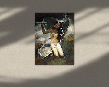 Fille de Balie se cachant nue, Romualdo Locatelli,- 1939 sur Atelier Liesjes