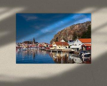 Blick auf die Stadt Fjällbacka in Schweden von Rico Ködder