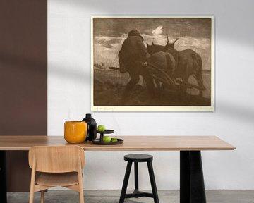 William Strang, Pflüger - 1891 von Atelier Liesjes