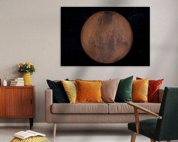 3D Render vom Planeten Mars von Tom Voelz