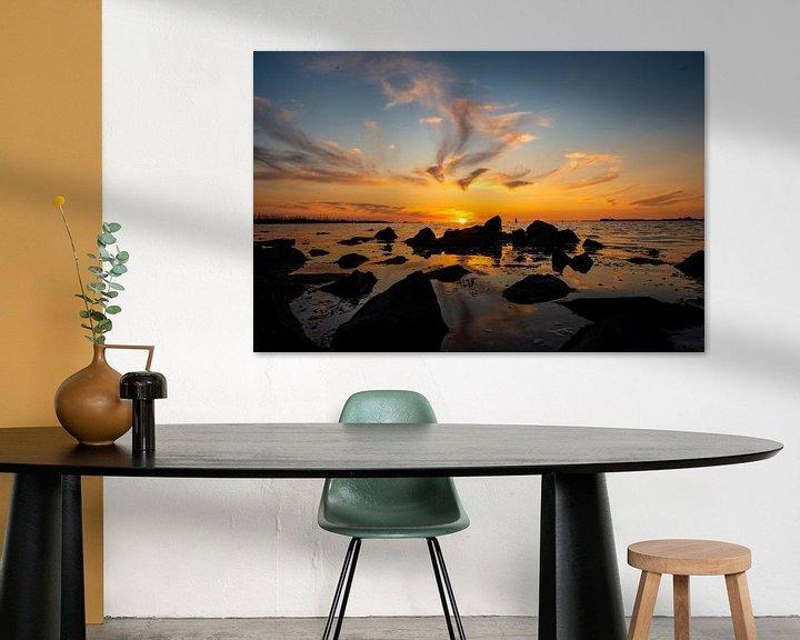 Impression: Coucher de soleil en mer sur Brian Morgan