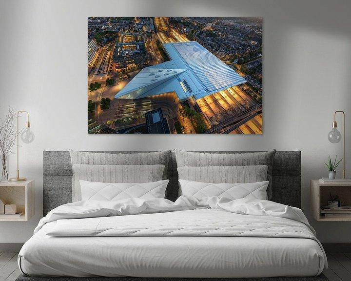 Beispiel: Der futuristische Hauptbahnhof von Rotterdam bei Nacht von MS Fotografie | Marc van der Stelt