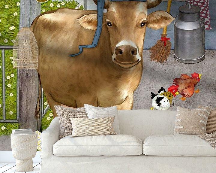 Beispiel fototapete: Meine lustige Kuh Berta von Marion Krätschmer