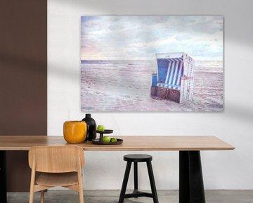 Strandkorb aan het strand van Sylt van Claudia Moeckel