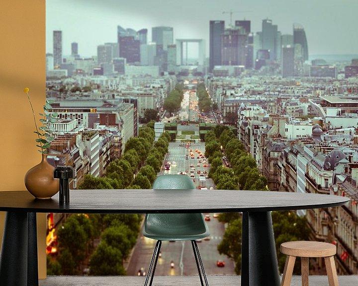 Sfeerimpressie behang: Parijs van bovenaf van BTF Fotografie