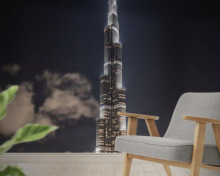 Beispiel fototapete: Dubai mit dem Burj Khalifa, dem höchsten Gebäude der Welt von Frans Lemmens
