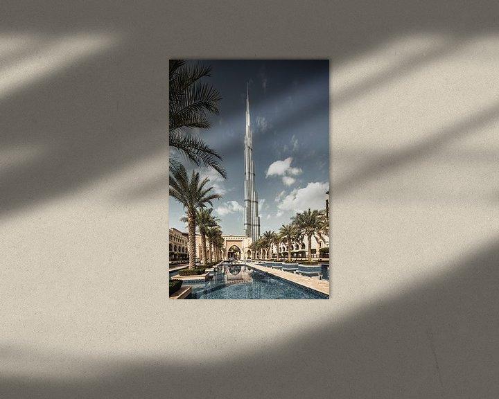 Beispiel: Dubai mit dem Burj Khalifa, dem höchsten Gebäude der Welt von Frans Lemmens