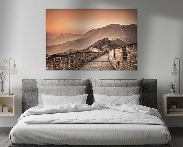 Beispiel: Chinesische Mauer bei Mutianyu, China von Frans Lemmens