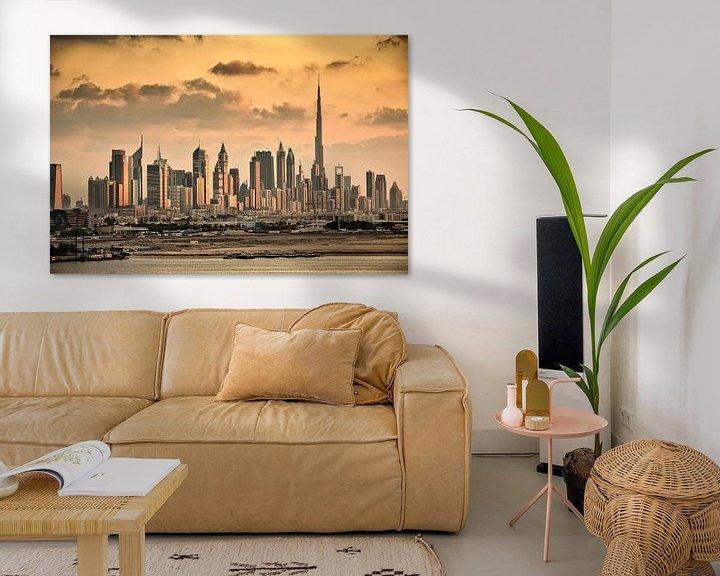 Beispiel: Die Skyline von Dubai mit dem Burj Khalifa, von Frans Lemmens