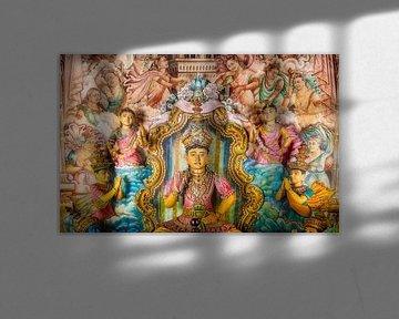 Buddha-Statuen im Maha-Vihara-Tempel, Waduwa, Sri Lanka