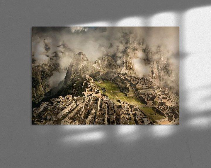 Beispiel: Machu Picchu, alte Inkastadt, Peru von Frans Lemmens