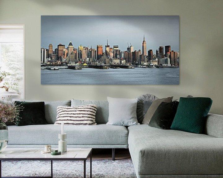 Beispiel: New York, Skyline von Midtown Manhattan von Frans Lemmens