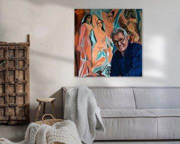 Jeroen Krabbe loves Les Demoiselles d' Avignon of Picasso van Paul Meijering