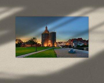 Hafenstadt Enkhuizen mit Stadttor der Drommedaris von Jenco van Zalk