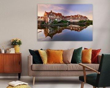 Häuser am Hafen von Enkhuizen von Jenco van Zalk