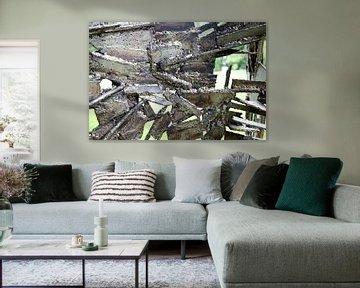 Stoer industrieel fotobehang van Veerle Van den Langenbergh