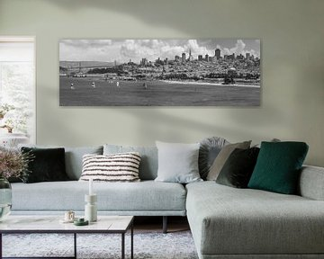 San Francisco Skyline | Monochrom von Melanie Viola