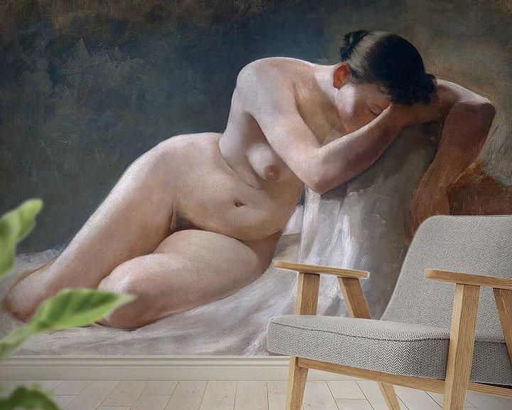 Beispiel fototapete: Nackte Frau, Boleslaw Barbacki von Atelier Liesjes