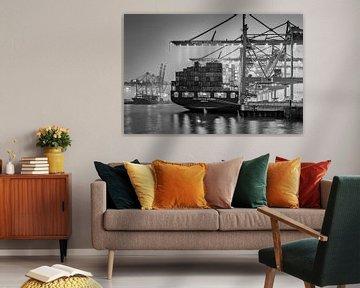 Hamburg, Hafen, Elbe, Container von Ingo Boelter