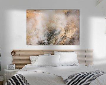 Dampende berg van Leendert Noordzij Photography