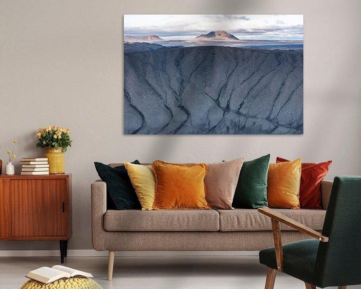 Sfeerimpressie: Uitzicht vanuit de krater Hverfell van Leendert Noordzij Photography