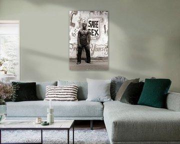 Black Man 4 - Analoge Fotografie! von Tom River Art
