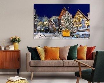 Miltenberg met Kerstmis van Tom River Art