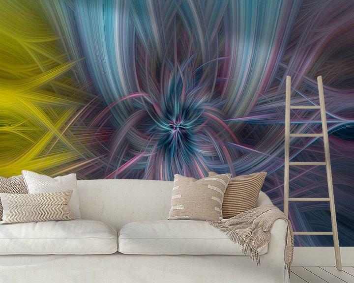 Sfeerimpressie behang: Digital abstract 28 van Leo Luijten