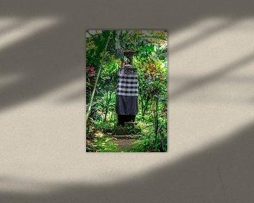 Altar im Dschungel von Bali von Mickéle Godderis