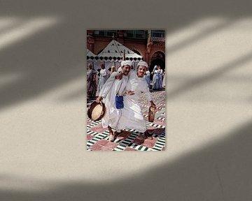 Marokkaanse Muzikanten - Analoge fotografie! van Tom River Art
