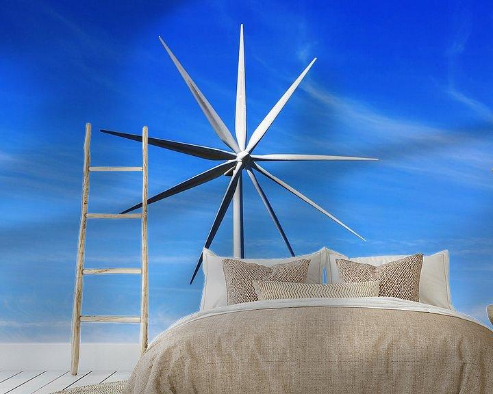 Impression: Le grand moulin à vent dans le ciel sur Frank Herrmann