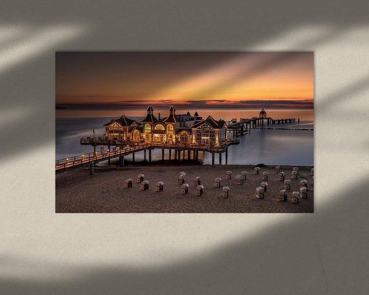 Sfeerimpressie: Zonsopgang op het eiland Rügen van Achim Thomae