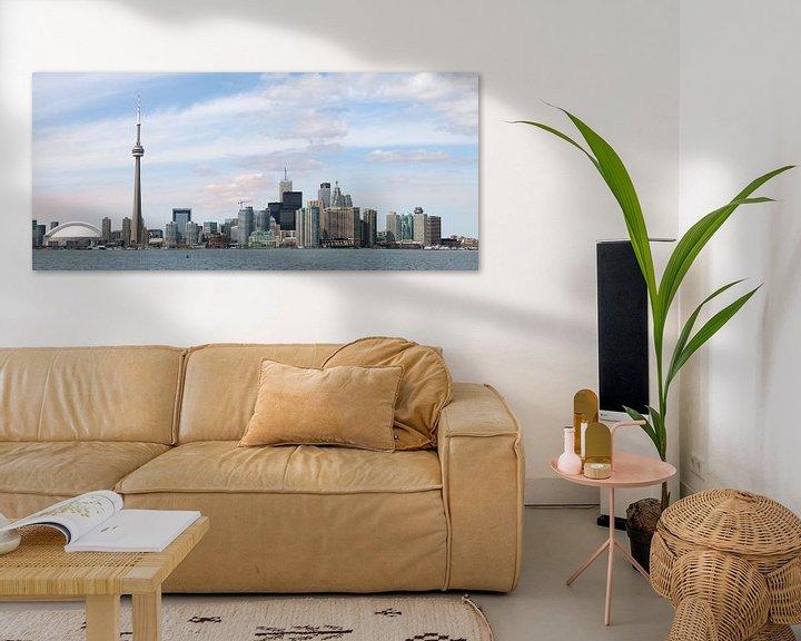 Sfeerimpressie: Skyline van Toronto, gezien vanaf Toronto Island van Margo Schoote
