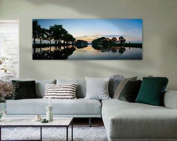 Zonsondergang Panorama van Sjoerd van der Wal